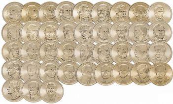 Набор монет - Президенты США набор 32 штуки (полный набор)