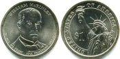 1 доллар Уильям Мак-Кинли 25-й президент США, 2013 г.