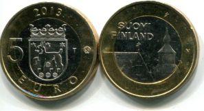 5 евро Хяме (Финляндия, 2013 г.)