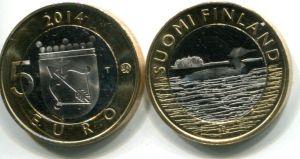5 евро гагара (Финляндия, 2014 г.)