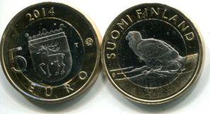 5 евро орлан-белохвост (Финляндия, 2014 г.)