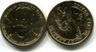 1 доллар Ульям Тафт (США, 2013 г.)