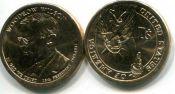 1 доллар Вудро Вильсон 28-ой президент США, 2013 год