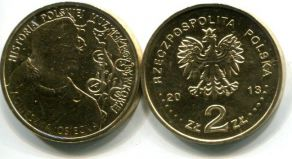 2 злотых Агнешка Осецкая (Польша, 2013 год)