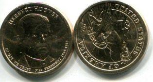 1 доллар Герберт Гувер (США, 2014 год)