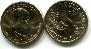 1 доллар Калвин Кулидж (США, 2014 год)