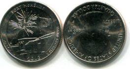 25 центов Форт Мак-Генри (США, 2013 год)