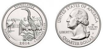 25 центов Эверглейдс (США, 2014 г.)