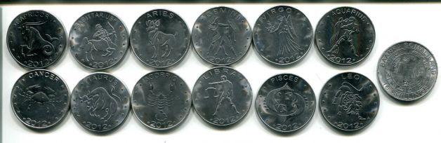Наборы монет - знаки зодиака (Сомалиленд, 2012 год)