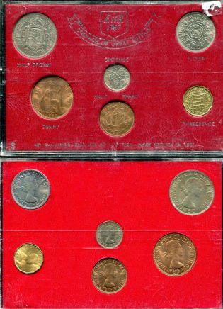 Набор монет Великобритании 1967 год