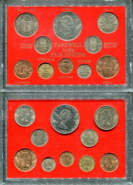 Годовой набор Великобритании (10 монет, переходный)