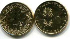 1/4 динара пальма (Ливия, 2014 г.)