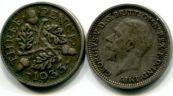 3 пенса серебро (Великобритания, 1933 г.)