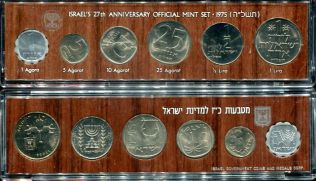 Годовой набор монет (Израиль, 1975 год)