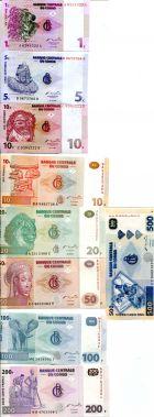 Набор банкнот (9 бон) Конго