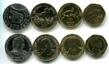 Набор монет Танзании (животные)