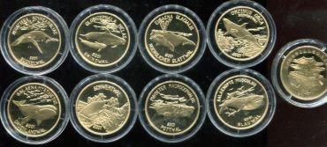 Набор монет 20 юаней, киты (Китай, 2001 год)