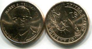 1 доллар Гарри Трумэн (США, 2015 г.)