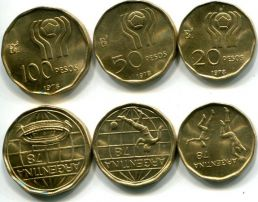 Набор монет футбол (Аргентина, 1978 год)