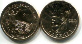 1 доллар Сакагавея племя Мохоки (США, 2015 г.)