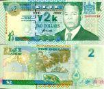2 доллара Миллениум 2000 год Фиджи