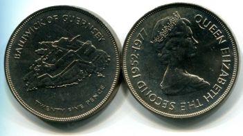 25 пенсов остров (Гернси, 1977 г.)