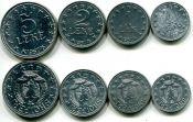 Набор монет Албании 1957 год