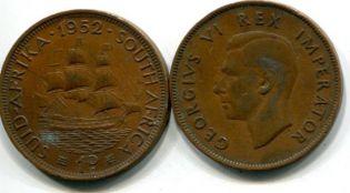 1 пенни Георг IV Южная Африка