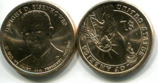 1 доллар 2015 год Эйзенхауэр США