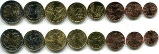 Набор монет евро Литвы 2015 год