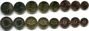 Набор монет евро 2014 год Латвия