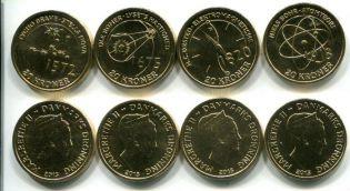 Набор монет Дании 2013 год учёные