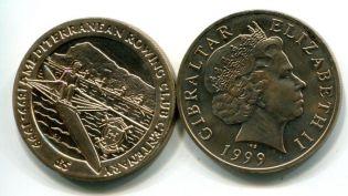 5 фунтов 1999 год гребля Гибралтар