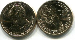1 доллар 2015 год Кеннеди США
