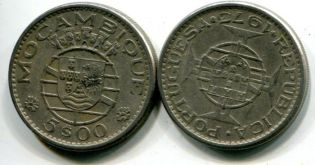 5 эскудо Мозамбик португальский