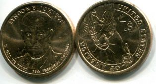 1 доллар Линдон Джонсон президент 2015 год США