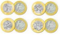 Бразилия набор монет Олимпиада выпуск 3