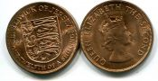 1/12 шиллинга герб Джерси 1966 год