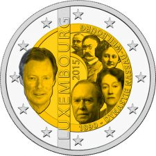 2 евро династия Нассау-Вайльбург Люксембург 2015 год