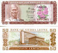50 центов цветы Сьерра-Леоне 1984 год