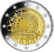2 евро 30 лет флагу Германия 2015 год