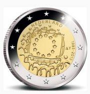2 евро 30 лет флагу Нидерланды 2015 год