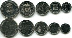 Набор монет Венесуэлы 1989-1990