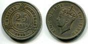 25 центов Британский Гондурас 1952 год
