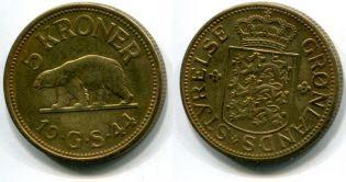 5 крон Гренландия 1944 год