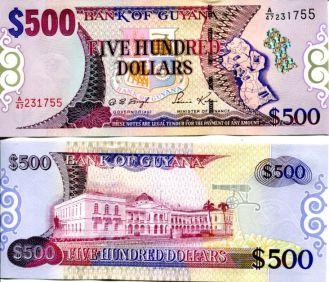 500 долларов Гайана