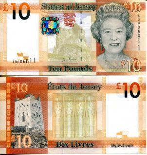 10 фунтов Джерси 2010 год