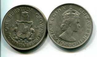 1 крона Бермуды 1964 год