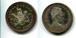 1 доллар Британская Клумбия Канада 1971 год