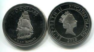 2 доллара корабль Питкерн 2010 год